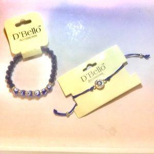 Jewelry - Bundle of 2 sparkly Protective evil eye bracelets